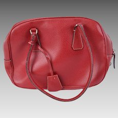 Prada Red Cinghiale Sport Leather Bauletto bag