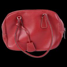 Prada Red Cinghiale Sport Leather Bauletto bag