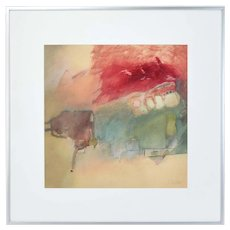 Scott Wilson Non-Objective Modern Abstract Watercolor Painting