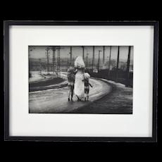 1969 Jan Saudek L/E Gelatin Silver Print Destiny Walks Towards the River