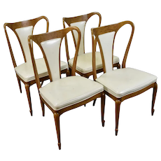 Set 4 Mid-Century Modern Elegant Mastercraft Sculptural Chairs