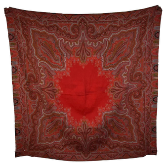 19th Century Kashmir Paisley Wool Shawl