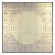 "Kim Chan-Il Chanil ""Dots"" 2004 Oil Painting Contemporary Korean Artist #1"