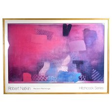 """Robert Natkin """"Recent Paintings - Hitchcock Series"""" Abstract Expressionist Poster Framed"""