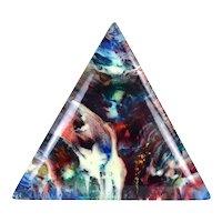 Nicholas Mirandon Abstract Triangular Resin Painting California Artist #1