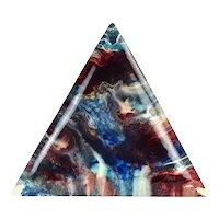 Nicholas Mirandon Abstract Triangular Resin Painting California Artist #2