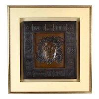 """Intaglio Bronze Sculpture """"Humanity"""" Portrait of Jesus by Felix de Weldon"""