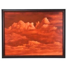 Abstract Red Skies CloudScape Painting Skyscape Chicago Artist Kopala #19