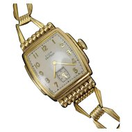 Vintage Ladies Elgin DeLuxe 10k Gold Fill Case Wrist Watch
