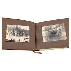 World War I Swedish Military Officers Photo Album Trenches Airplane Motorbike