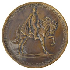 1921 Simon Bolivar Commemorative Medal Central Park NYC Sally James Farnham