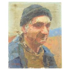 Impressionist Portrait Painting of Artist Dick Stalter by Susan Grissell