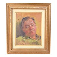 Impressionist Portrait Painting of Sculptor Bill Merklein by Susan Grissell