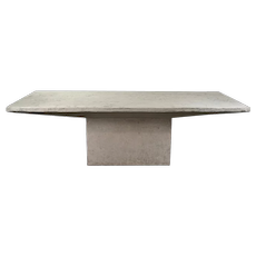 8ft Vintage 1980s Faux Raw Stone Dining Table Conference Table