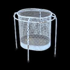 Maurice Duchin Iron Mesh Mid-Century Modernist Waste Basket circa 1953