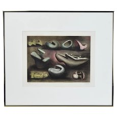 """Henry Moore Aquatint etching """"Sculptural Ideas #1"""" signed limited edition"""