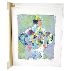 "Leroy Neiman Serigraph ""The Jockey"" Horse Racing Signed Artist's Proof"