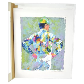 "Leroy Neiman Serigraph ""The Jockey"" Horse Racing Signed Artist's Proof"