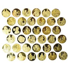 Medical Heritage Society - Medallic History of Pharmacy 36 Gold on Silver Medals
