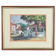 1969 Frank Beatty Pastel Painting Cascar's St. Portugal