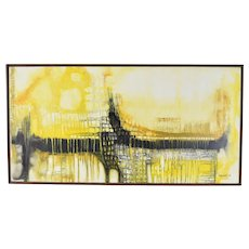 Vintage Mid-Century Abstract Oil Painting Margaret Dagenais Chicago