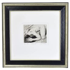 """Adam II"" Nude Male Sergei Firer Signed Original L/E Etching"