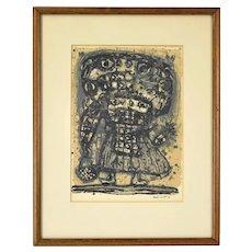 "Akiro Kito ""Enfant"" Japanese Abstract Mid-Century Modern L/E Lithograph"