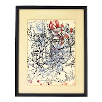 Jean-Paul Riopelle Abstract Color Lithograph Derriere le Miroir