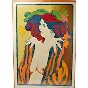 """Frank Gallo """"Carol"""" L/E Serigraph Nude Woman  Signed Artist's Proof"""