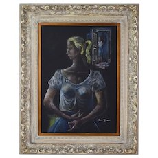 Pastel Abstracted Blonde Women Frederick Jones Chicago African American
