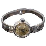 Vintage Mendys 14k Solid White Gold Ladies Wristwatch Watch