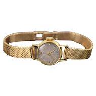 Vintage Girard Perregaux Ladies Watch 18kt Solid Yellow Gold Wristwatch 18kt Band