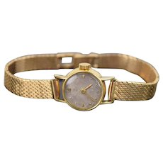 Vintage Girard Perregaux Ladies Watch 18kt Solid Yellow Gold Wristwatch 18kt Band