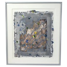 """1984 Abstract Painting """"To go beyond is as wrong as to fall short"""" Signed Yohe"""