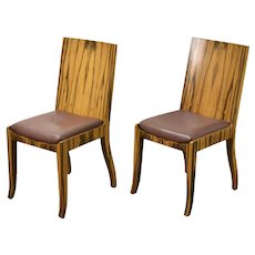 Pair Interior Crafts Mid-Century Modern Style Rosewood Side Chairs