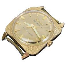 Vintage Mens's Bulova 30 Jewels Self Winding 10kt Gold Plate Wristwatch Watch