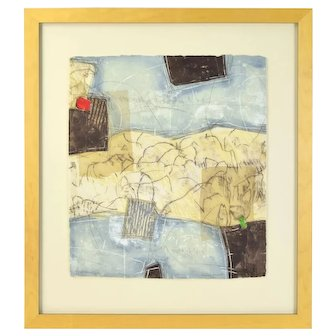 Bernard Remusat Abstract Etching Cave Paintings at Pech Merle