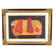 Israel Broytman Abstract Still Life Painting Russian/Canadian artist