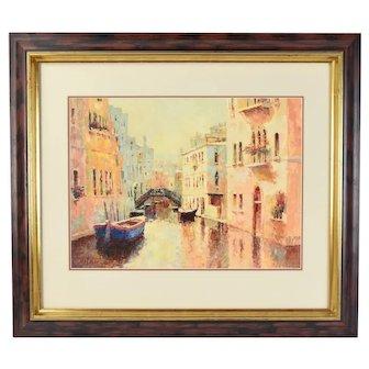 Vitali Bondarenko Impressionist Oil Painting Venice Canal Scene