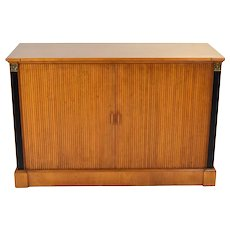 Vintage Empire Style Sideboard Buffet Cabinet Chest Drawers with Tambour Doors
