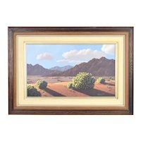 "Gilbert Edward Roys ""Hidden Valley"" California Desert Mountain Scene Oil Painting"