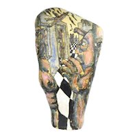 Large Vintage Surrealist Pottery Sculpture Floating Nude Figures Mark Chatterley