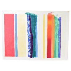 1979 Robert Natkin Abstract Expressionist L/E Lithograph Stripes Sgnd 10