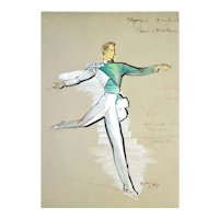 Freddy Wittop Olympic Ice Capades Skaters Costume Designs Original Paintings