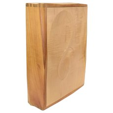 Artisan Studio Made Curly Maple Contoured Wall Cabinet or Document Box