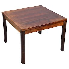 Vintage Danish Modern Square Rosewood Coffee Cocktail Table