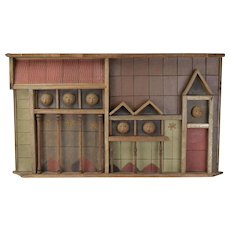 """Clyde Burt """"North Avenue"""" Pottery Abstract Architectural Wall Sculpture Chicago"""