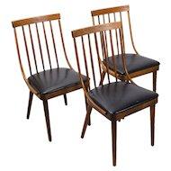 Set 3 Mid-Century Bentwood Side Chairs Lawrence Peabody Richardson Nemschoff