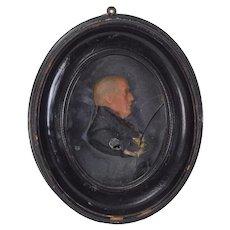 1805 Wax Portrait John Scott Earl of Eldon Lord Chancellor of England
