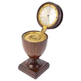 Antique Miniature Mahogany Knife Urn Box Inkwell w Wilke Cupar Fife Clock